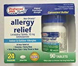 Generic Claritin - Loratadine (10mg) non drowsy indoor and outdoor allergy- 90 Tablets