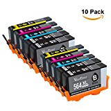 Valuetoner Remanufactured Ink Cartridge Replacement for New Generation Hewlett Packard HP 564XL (4 Large Black, 2 Cyan, 2 Magenta, 2 Yellow) 10 Pack