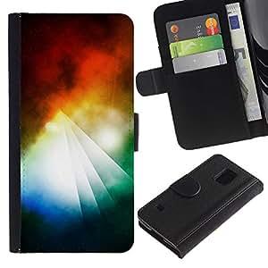 Ihec-Tech / Flip PU Cuero Cover Case para Samsung Galaxy S5 V SM-G900 - Abstract Colorful Pyramid