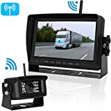 Digital Wireless Backup Camera RV Trucks Trailer Camper 5th Wheel No Interference Signals System 7 Monitor IP69K Waterproof Camera Rear/Side/Facing View Reverse/Continuous Use