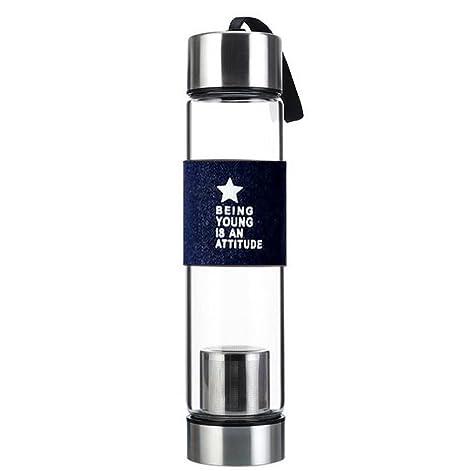 Scrox 1x Botella de té Tea Maker con bolsa de nylon, perfecto para Fitness Yoga