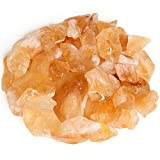 """Digging Dolls: 1 lb Citrine Rough Rocks from Brazil - Assorted Sizes Range from 0.5"""" to 1.5"""" Each Piece - Raw Crystal Stones for Arts, Crafts, Tumbling, Wire Wrapping, Wicca and Reiki Crystal Healing"""