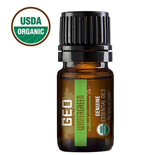 Wintergreen Organic Essential Oil   Joint and Muscular Problems, Rheumatoid Arthritis, Respiratory Conditions   5 ml   USDA Organic. Certified by CCOF   Sold by GEO Oils