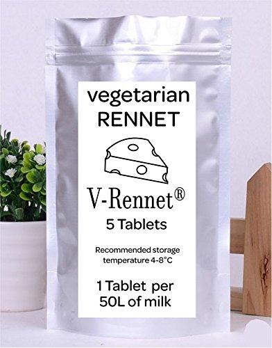 V- Rennet 5 Tablets Pack Vegetarian Rennet For 250 L Milk … V-Rennet