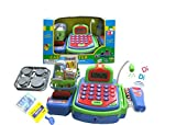 Lvnv Toys@ Activity Learning Family Pretend Play B/O Electronic Cash Register Toy Pretend Play Scanner, Money and Credit Card, Groceries With Sound Green