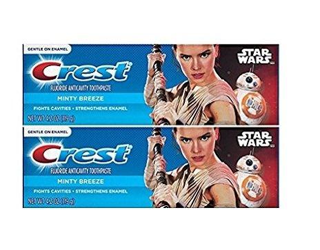 Crest Pro Health Junior Star Wars Children's Fluoride Anticavity Toothpaste Minty Breeze 4.2 oz,119 gr (Pack of (Childrens Anticavity Fluoride Toothpaste)