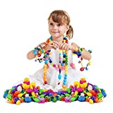 370Pcs Pop Bead Pearl Children Diy Building Blocks Jewelry Accessories Arty Toy Set B for Kids Intelligence Education Toys Gifts