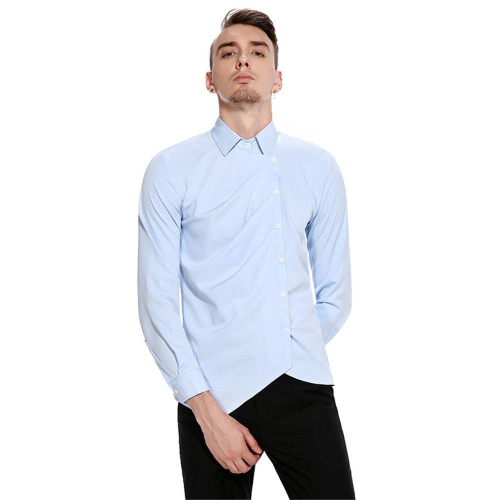 Männer lässig Hemd persönlichkeit ungewöhnlich hohe qualität langärmliges Hemd,Auf jeden Fall, das,XL