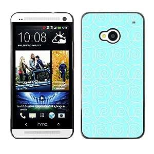 FlareStar Colour Printing Blue White Pattern Waves Surf Wallpaper cáscara Funda Case Caso de plástico para HTC One M7