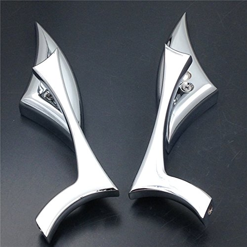 New Billet Motorcycle Mirrors - XKH Group Motorcycle Chrome Spear Blade Mini Mirrors for Harley Davidson Sportster Dyna Softail new