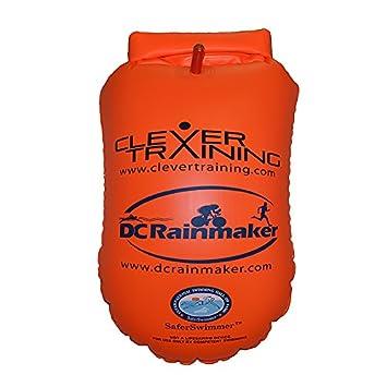 ISHOF saferswimmer Personal natación Flotador grande con bolsa de almacenamiento en seco, color naranja: Amazon.es: Deportes y aire libre