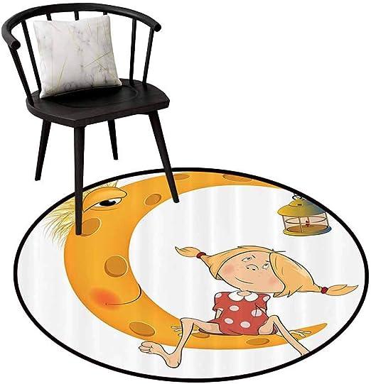 Alfombra redonda cálida para niñas y adolescentes, decoración ...