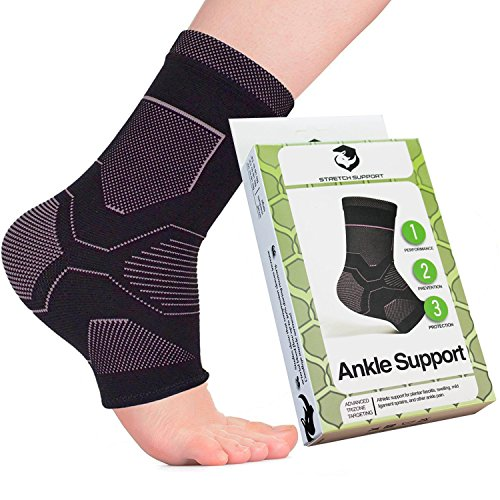 Ankle Brace Compression Support Sleeve with 20-30 mmHg (Pair) for Foot Pain. Plantar Fasciitis Socks Increase Blood Circulation to Reduce Foot Swelling and Heel Spurs While Providing Arch Support