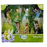 Disney Parks Fairies Collectible Figures Playset Including Tinker Bell, Silvermist, Fawn, Rosetta, Iridessa, Vidia, and Periwinkle From Pixie Hollow - Neverland by Disney Parks