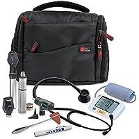 Practitioner Medical Kit Bag - Rugged Black & Orange Shoulder Sling Carry Bag for Medical Supplies & Equipment - With Adjustable Interior Dividers (200 x 145 x 100 mm) by DURAGADGET