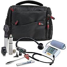 DURAGADGET Practitioner Medical Kit Bag - Rugged Black & Orange Shoulder 'Sling' Carry Bag for Medical Supplies & Equipment - with Adjustable Interior Dividers (200 x 145 x 100 mm)