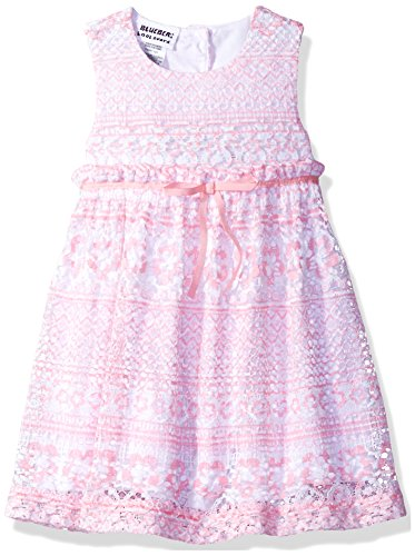 Blueberi Boulevard Cotton Sundress - Blueberi Boulevard Baby Girls' Floral Party Sundress, Pink, 12M