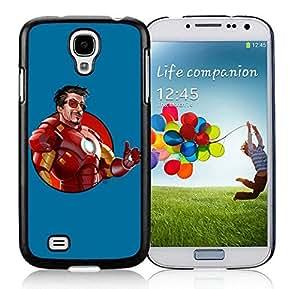 Iron man Case For Samsung Galaxy S4 i9500 Black