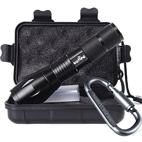 Led Tactical Flashlights, Super Bright High Lumens Flash Light with Zoomable Focus, IPX6 Waterproof, Great Gift for Camping, Hiking & Car (Pro with Carabiner)