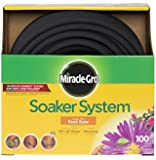 Miracle Gro MGSPA38100FM Premium Bulk Soaker Hose Kit with EZ Connect Fittings, 3/8-Inch by 100-Feet