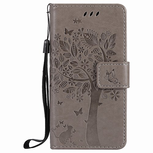 Yiizy Casemate A3 (2017) / A320f / Fl / A320y Case, Tree Design Drawing Flap Wallet Flip Cover Housing Case Premium Pu Leather Cover Shell Bumper Skin Slim Protective Shell Case Stand R