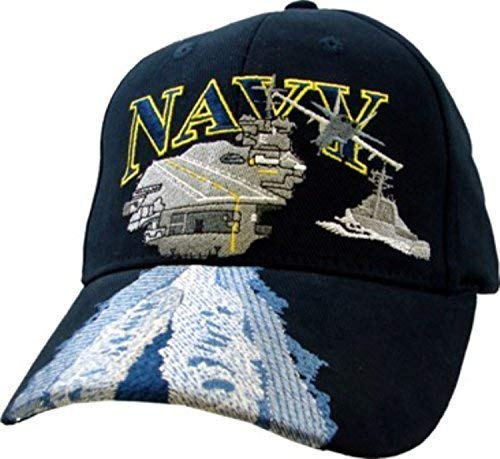 Navy Aircraft Carrier - U.S. Navy Aircraft Carrier Ball Cap,Blue,Standard