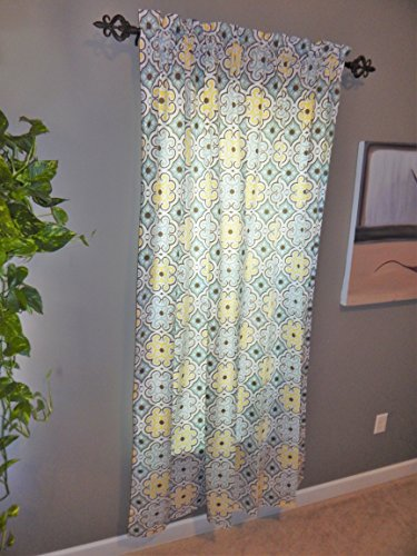 Yellow Living/Dining Room Curtains - Crabtree Collection - Yellow Small Tile (55 x 84)