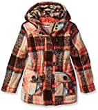 Urban Republic Little Girls' Ur Wool Jacket, Brown 1, 6X