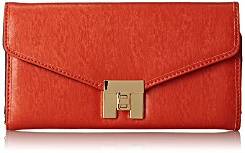 Tommy Hilfiger Turnlock 3 Wallet, Papaya, One Size ()
