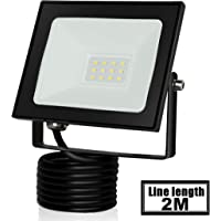 Proyector LED de 20W Floodlight 1600LM Focos LED Exterior para exteriores para patio Impermeable IP65 6500K Blanco frío…