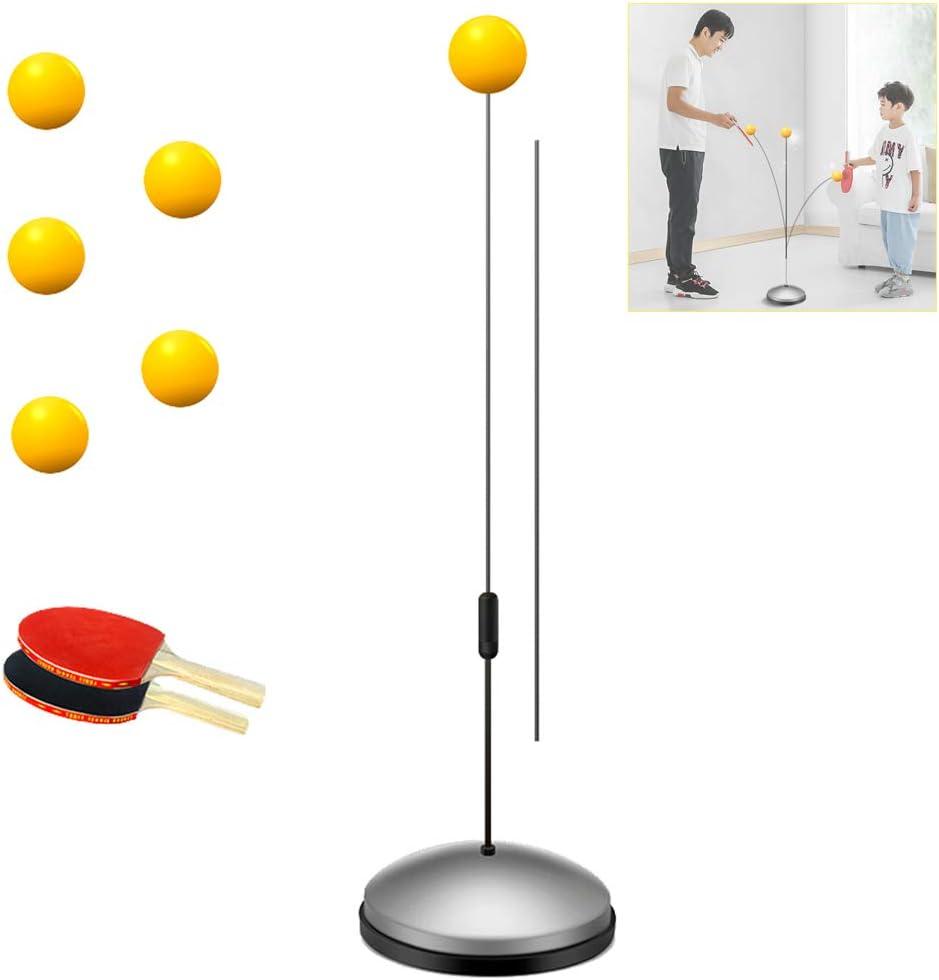 Mesa de Ping Pong Trainer, la práctica Unos elásticos para Ocio Deportes descompresión 2 Tabla de Pádel y 5 del Ping-Pong Pelotas Suaves Eje Deportes para Adultos Ocio descompresión
