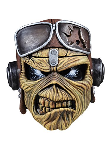 Iron Maiden Costume Adult Aces High Eddie Mask (One Size) ()