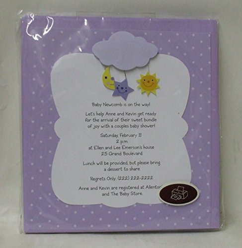 Engagement Announcement Invitations (Genuine Hallmark Personizable Invitation Kit - Baby Shower / Baby Announcement Invitations - 10 Invitations each)