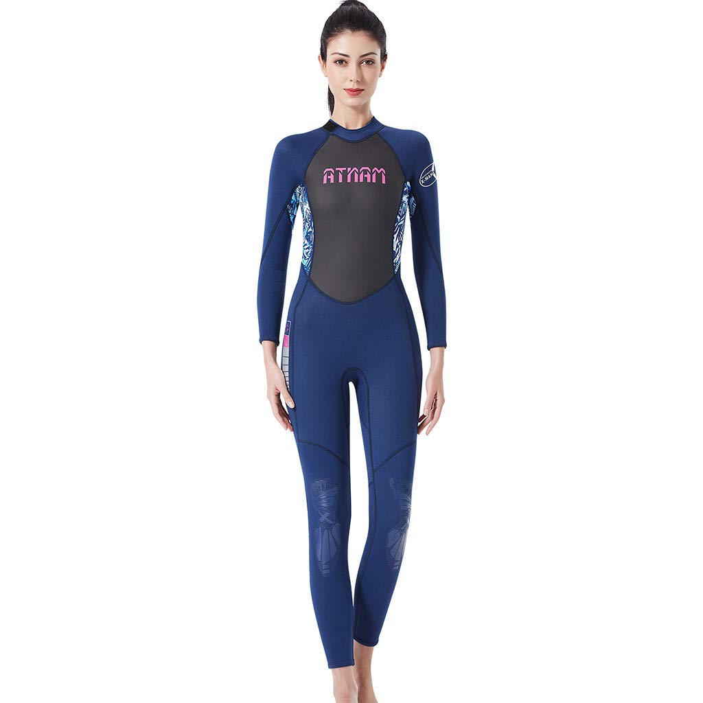 LUXISDE Women's Keep Warm Sunscreen Swimming,Surfing and Snorkeling Diving Coverall Suit Blue by LUXISDE (Image #5)