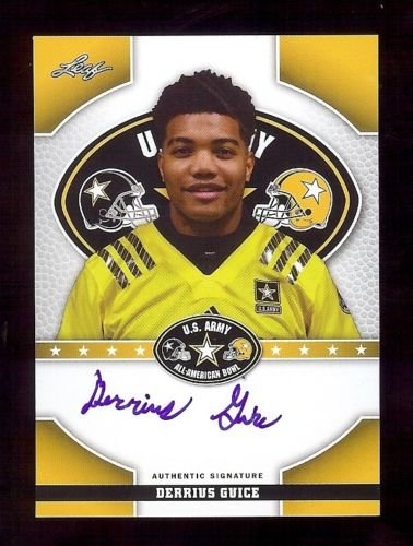 DERRIUS GUICE 2015 Leaf Rookie LSU Tigers Football - U.S. Army - RC AUTOGRAPH from Leaf