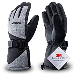RIVMOUNT Ski Gloves The RIVMOUNT Ski Gloves have been upgraded. Different from other common gloves, the RIVMOUNT Gloves are made of 3M Thinsulate which is warmer and lighter. The RIVMOUNT gloves have a lot of humanized design to improve thof...