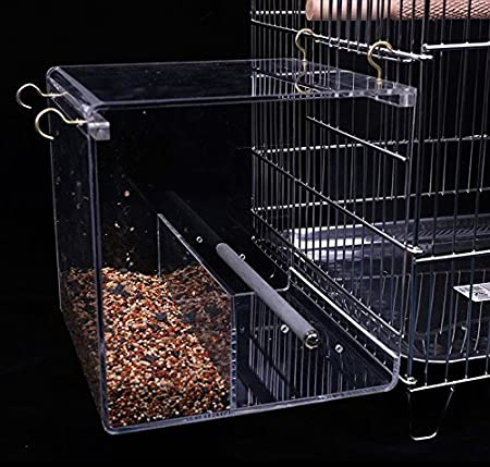 KINTOR No-Mess Bird Feeder No Assembly with Rough-surfaced Stainless Steel Perch Harvestkey CW111