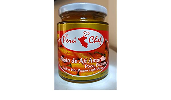 PASTA DE AJI AMARILLO, POCO PICANTE-YELLOW HOT PEPPER LIGHT PASTE. 8 oz : Grocery & Gourmet Food