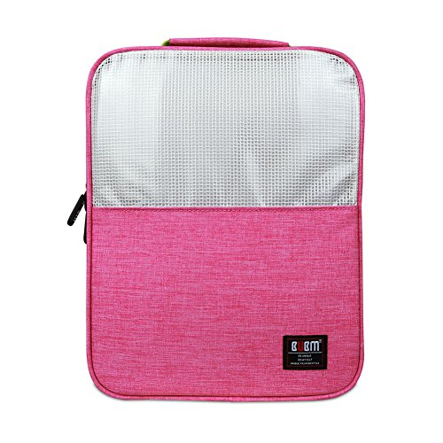 BUBM Schuh Travel Organizer / Schuh Cube-Portable Wasserdichte Schuhtaschen für Outdoor, Workout, Tanzen, Gym - (Mittel, rosa)
