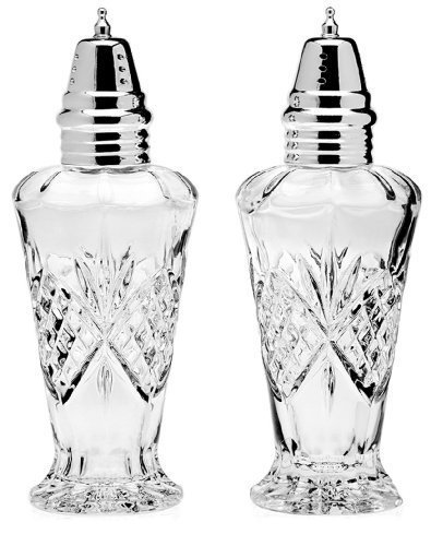 Godinger Crystal Dublin Salt and Pepper Set Shakers - Full Color Clear - Additional Vibrant Colors Available by TableTop -