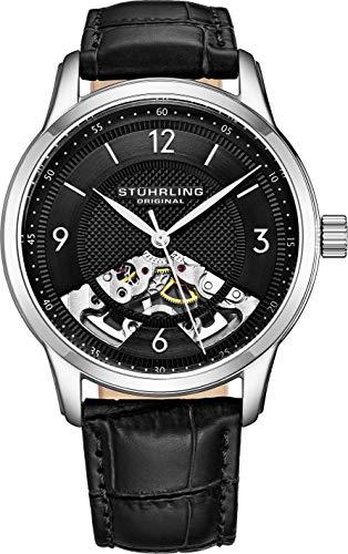 Stuhrling Original Men's 977.02 Legacy Analog Display Mechanical Hand Wind Black Watch ()
