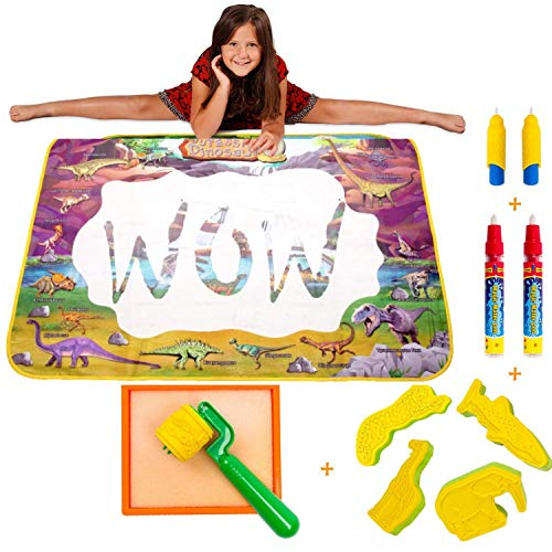 - Wow Four Design -AquaDoodle Mat - Aqua Magic Mat - Water mat - Educational Travel Toys Gifts for Age 2 3 4 5 6 Year Old