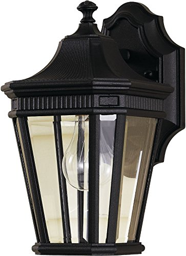 Feiss OL5400BK Cotswold Lane Outdoor Patio Lighting Wall Lantern, Black, 1-Light (7