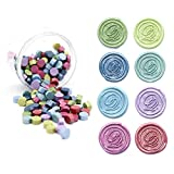 UNIQOOO Arts & Crafts 180 Mixed Color Bottle Sealing Wax Beads Nuggets for Wax Seal Stamp -Green Turquoise...
