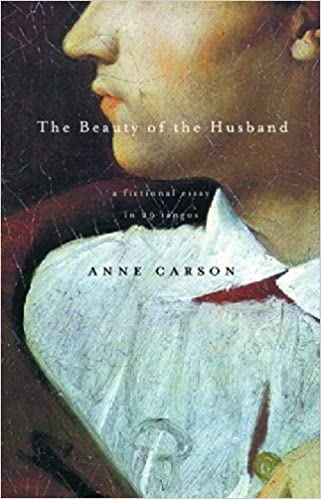 the beauty of the husband a fictional essay in tangos anne  the beauty of the husband a fictional essay in 29 tangos anne carson 9780375707575 com books