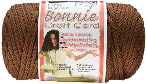 Cord Almond (Pepperell Bonnie Macrame Craft Cord, 6mm 100-Yard, Almond)