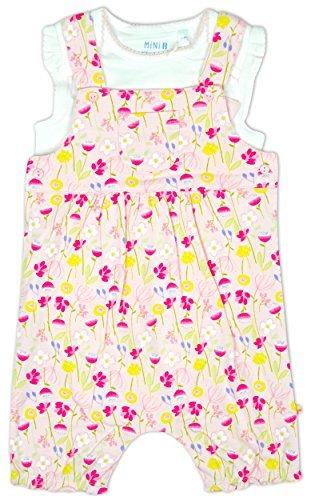Bebé Niña Floral Babero Corto Pelele & Body Traje Conjunto rallas desde Recién nacido a 12