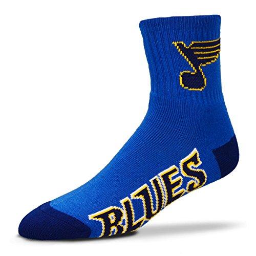 For Bare Feet Men's NHL Quarter Socks-St Louis - Prestige Louis St