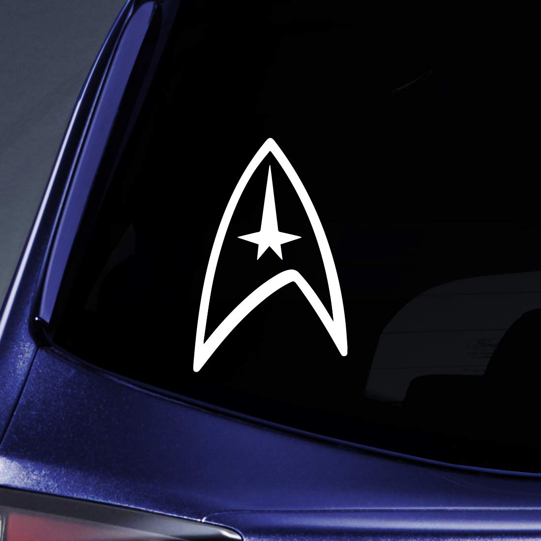 Amazon com bargain max decals star federation logo sticker decal notebook car laptop 5 white automotive