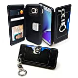 Galaxy Note 5 Case, Cellto [Clutch] [Pocket Cover] PU Leather [TPU Bumper] Finger Holder Clip Cover [Drop Protection] for Samsung Galaxy Note 5 - Black